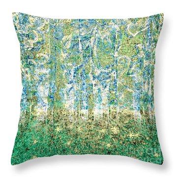 Throw Pillow featuring the digital art Woodland Dreams-no2 by Darla Wood