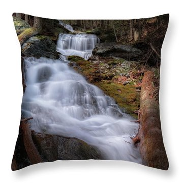 Throw Pillow featuring the photograph Woodland Falls 2017 by Bill Wakeley