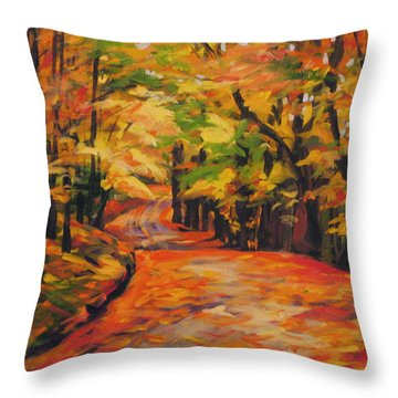 Woodland Festival Throw Pillow