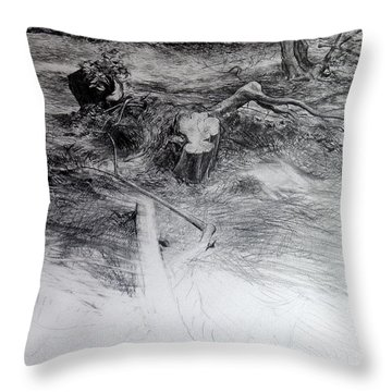 Woodland Throw Pillow by Harry Robertson