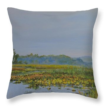 Woodland Lake Throw Pillow
