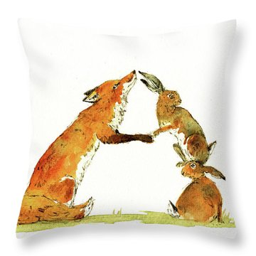 Woodland Letter Throw Pillow