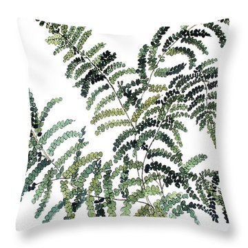 Woodland Maiden Fern Throw Pillow