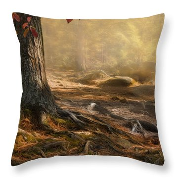 Woodland Mist Throw Pillow