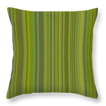 Woodland Moss - Stripes - Green Throw Pillow