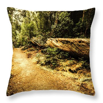 Fallen Tree Throw Pillows