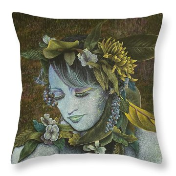 Woodland Nymph Throw Pillow