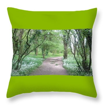 Woodland Path 1 Throw Pillow