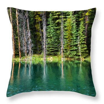 Woodland Reflections Throw Pillow