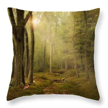 Woodland Throw Pillow by Robin-Lee Vieira
