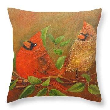 Woodland Royalty Throw Pillow by Loretta Luglio
