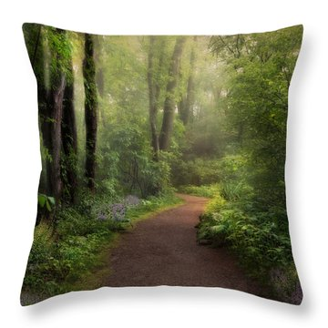 Woodland Spring Throw Pillow by Robin-Lee Vieira