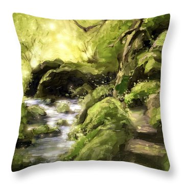 Woodland Steps Throw Pillow