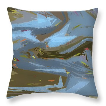 Woodland Stream Throw Pillow