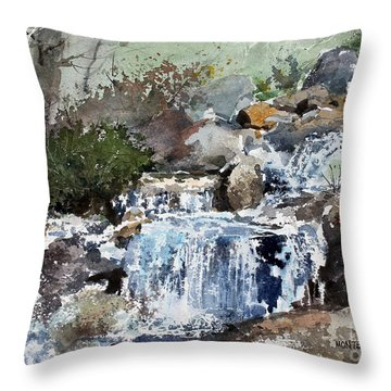 Woodland Stream Throw Pillow by Monte Toon