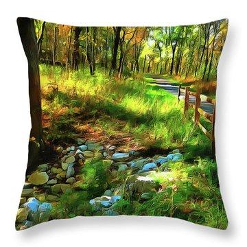 Woodland Symphony Throw Pillow by Cedric Hampton
