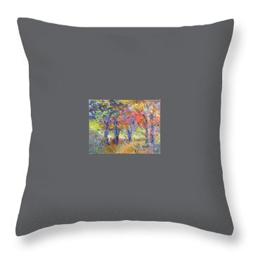 Woodland Walk Throw Pillow