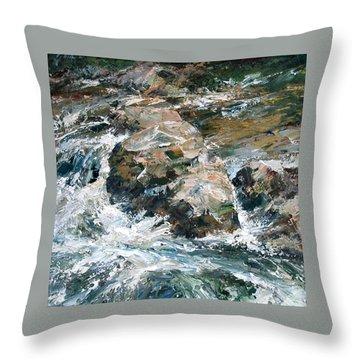 Woodland Waterway Throw Pillow