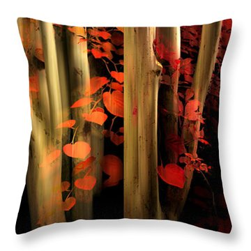 Throw Pillow featuring the photograph Woodland Whispers by Jessica Jenney