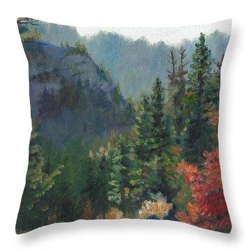 Woodland Wonder Throw Pillow by Lori Brackett