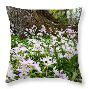 Woodlands Spring Beauty Throw Pillow