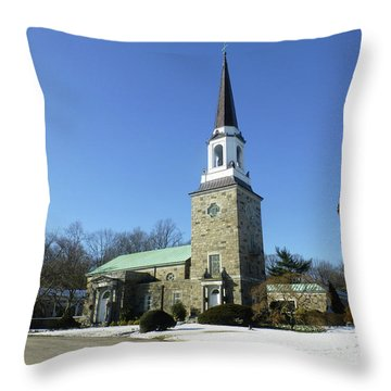 Woodlawn Cemetery Chapel Throw Pillow