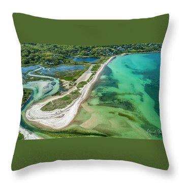 Woodneck Beach Throw Pillow