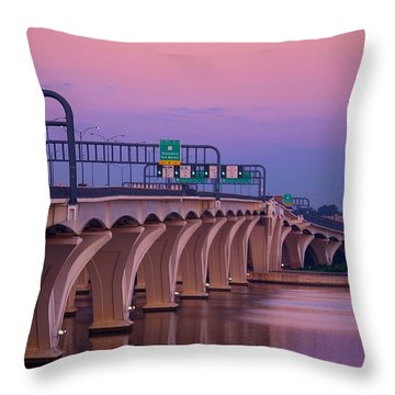 Woodrow Wilson Bridge Throw Pillow