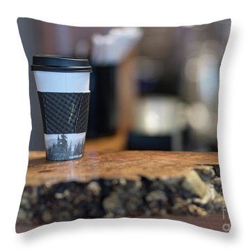 Throw Pillow featuring the photograph Woods Coffee by Jim  Hatch