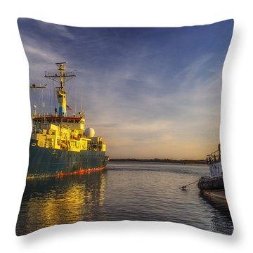 Woods Hole Ship Yard Throw Pillow