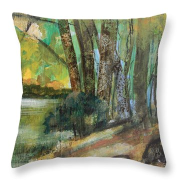 Woods In The Afternoon Throw Pillow