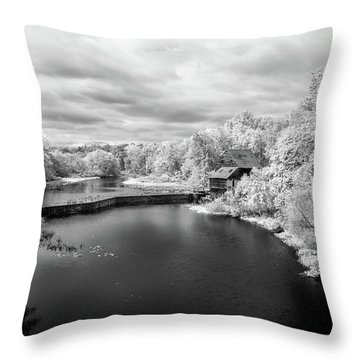 Woodson's Mill On The Little River Throw Pillow