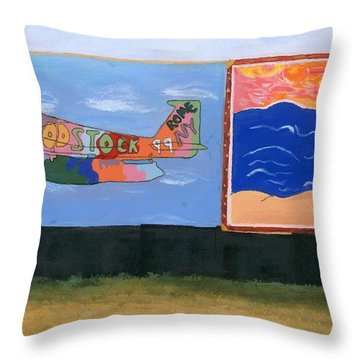 Woodstock 99 Revisited Throw Pillow