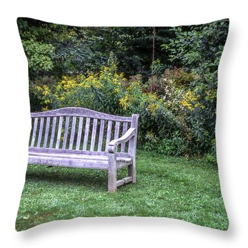 Woodstock Bench Throw Pillow