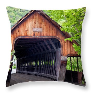 Woodstock Middle Bridge Throw Pillow by Susan Cole Kelly