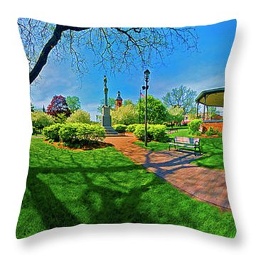 Woodstock Square Historic District 360 Spring Throw Pillow