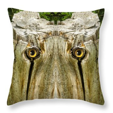 Woody 156 Throw Pillow