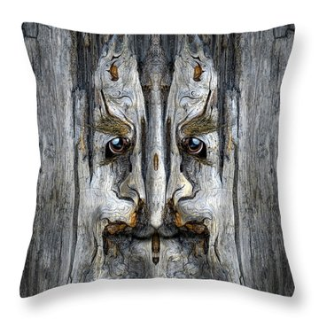Woody 203 Throw Pillow