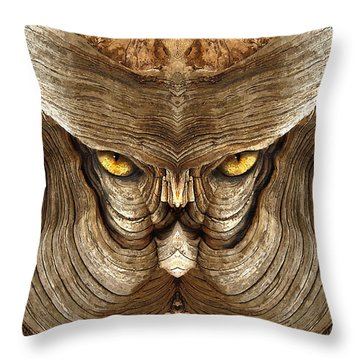 Woody 88a Throw Pillow