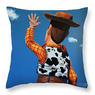 Woody Of Toy Story Throw Pillow