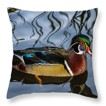 Woody Throw Pillow by Robert Hebert