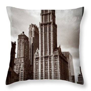 Woolworh Building 2008. Throw Pillow