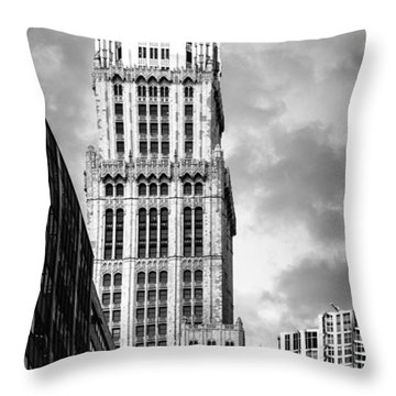 Throw Pillow featuring the photograph Woolworth Building by Juergen Held