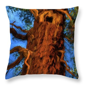 Wooly Bear Tree Throw Pillow