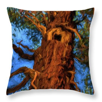 Wooly Bear Tree Throw Pillow