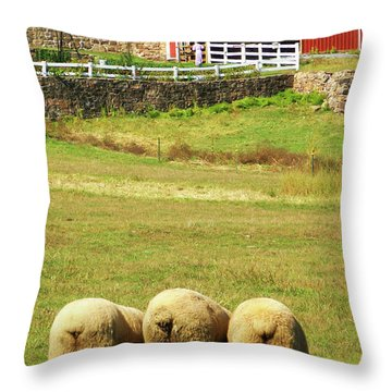 Wooly Bully Throw Pillow by Trish Tritz