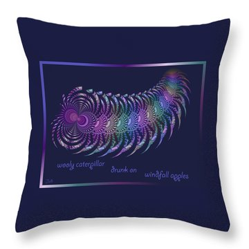 Wooly Caterpillar Haiga Throw Pillow