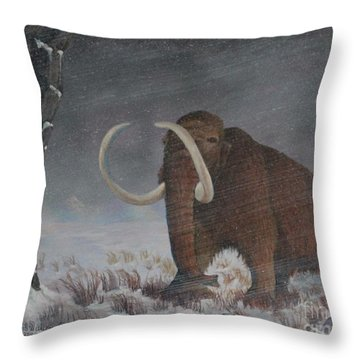 Wooly Mammoth......10,000 Years Ago Throw Pillow