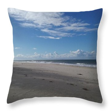 Woorim Beach Throw Pillow