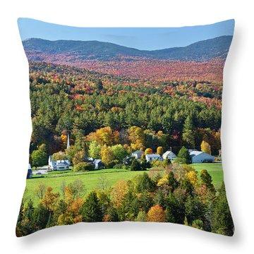Worcester Vermont Autumn Throw Pillow by Alan L Graham